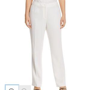 Lafayette 148 Barrow Plus White Pants 18W